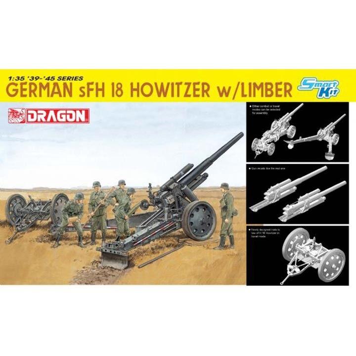 Dragon  35 German sFH 18 Howitzer w Limbe