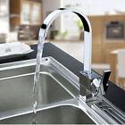 Chrome Brass Swivel Spout Kitchen Faucet Vessel Sink Mixer Tap Single Handle