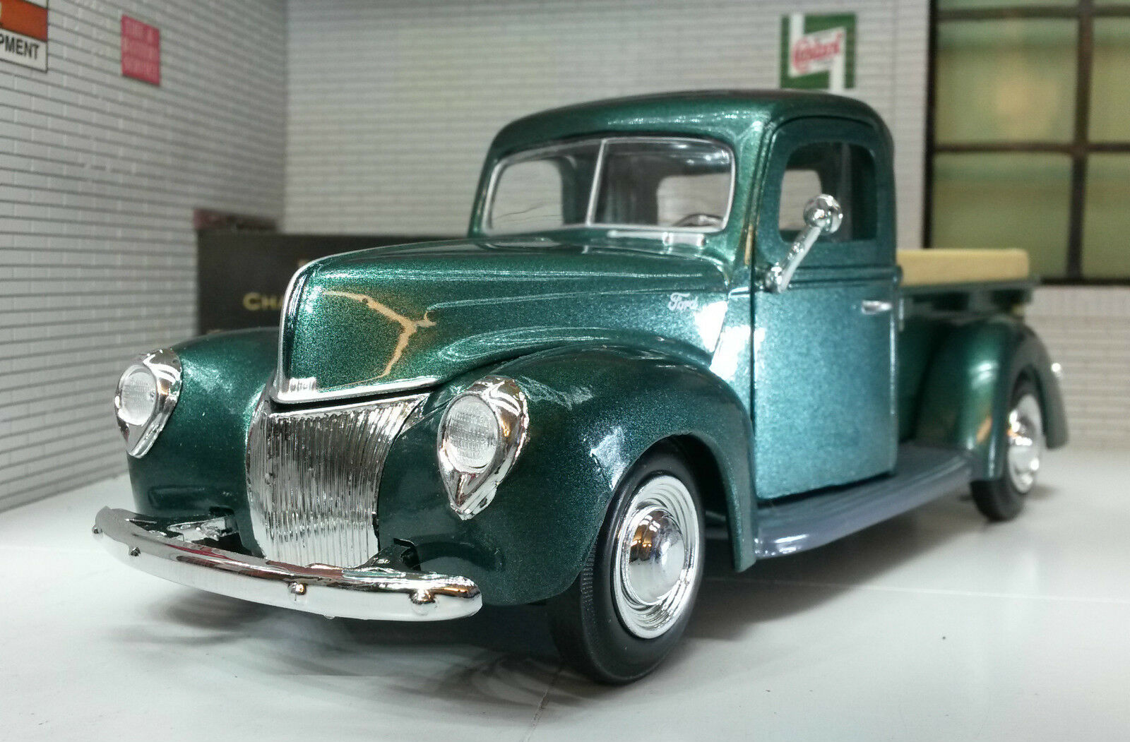 LGB LGB LGB 1 24 Escala Rojo Ford Entrega Camioneta Pickup 1940 Motormax Modelo Fundido e9ec4f