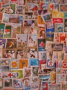 100  versch.Briefmarken Rotes Kreuz , Medizin , Arzt