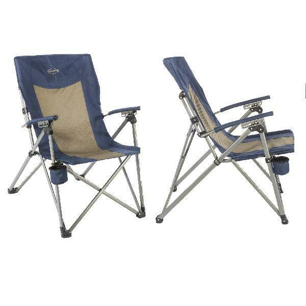 Kamp-Rite 3-Position Hard Arm Reclining Chair with Cup Holder   cheap and high quality