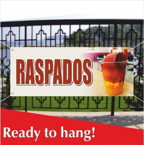 Mesh Banner Sign Flag Spanish Carnival Food RASPADOS Advertising Vinyl Banner
