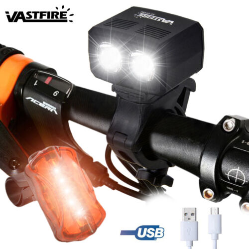 MTB Road Bicycle Bright Bike Front Headlight Rechargeable Lamp Direction Light A