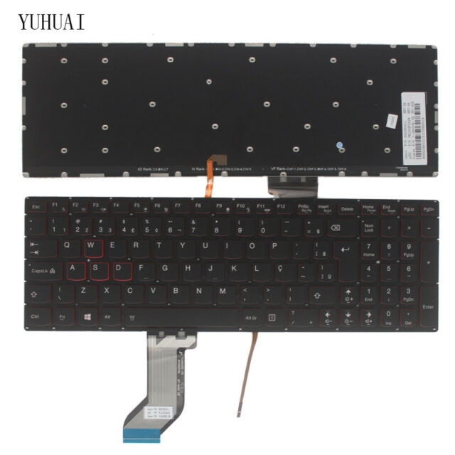 Original New for Lenovo IdeaPad Y700-15ISK Y700-17ISK Brazilian Backlit Keyboard