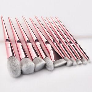 10pcs Pro Makeup Brushes Set Foundation Powder Blush Beauty Cosmetic Brush Tools