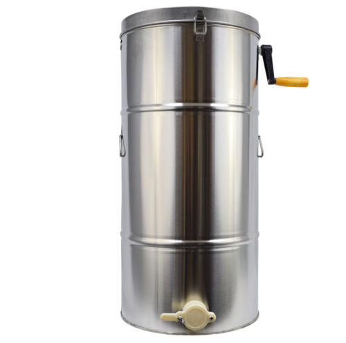 Safety Use Two 2 Frame Stainless Steel Bee Honey Extractor Honeycomb Drum