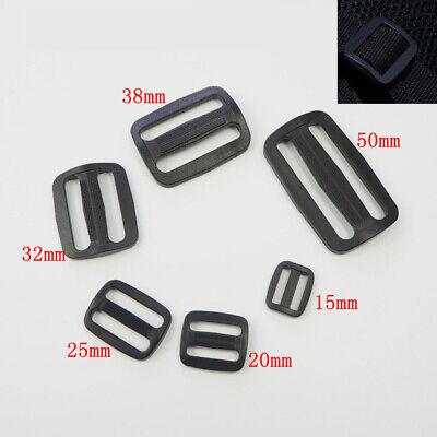 pack of 10 pieces 50 mm black plastic Trigliders sliders bags webbing