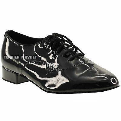 TPS Men/'s Black Patent /& Suede Latin Ballroom Custom-made Dance Shoes M22