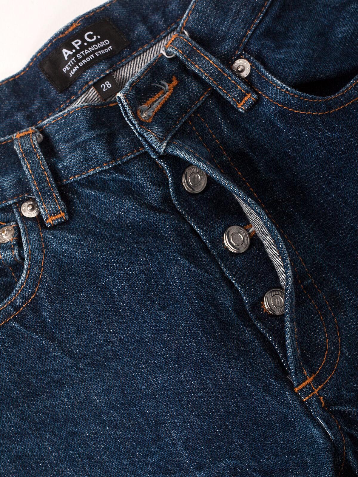 Men's APC Petit Standard Jeans Denim Fade Butler Raw bluee Indigo Skinny Japan 28