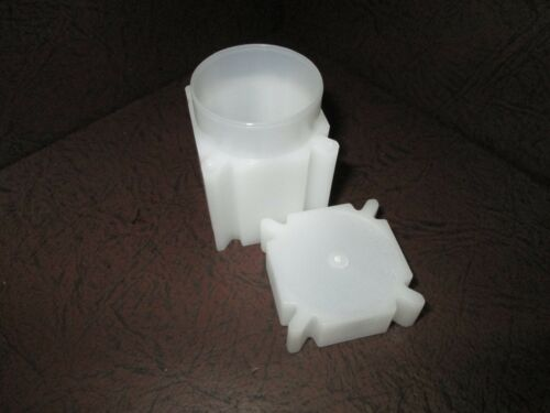 One Square Coin Storage Tubes for Half Dollars by CoinSafe