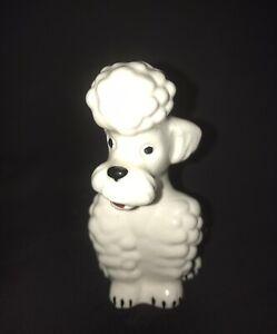 VINTAGE GOEBEL KT160 WHITE POODLE DOG FIGURINE