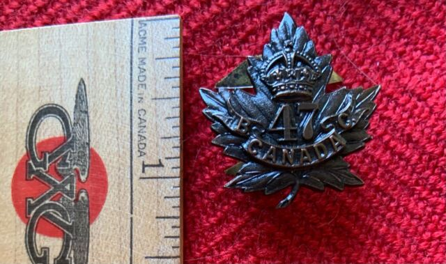 WWI Great War Canada CEF Collar Badge 47th Battalion New Westminster Jacoby Bros