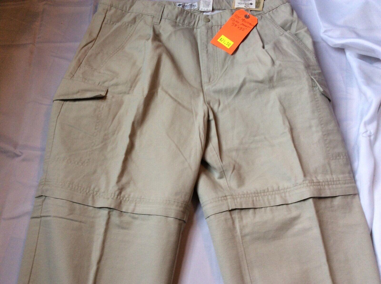 Columbia High Roc Congreenible Cotton Cargo Kahki Hiking Pants NWT