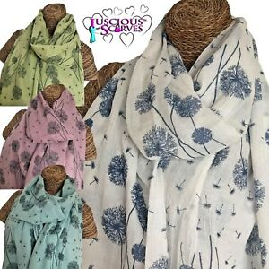 Dandelion Print Scarf Ladies Womens Floating Design Latest Fashion Quality Wrap