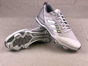 b466713253eb Adidas Mens Cleats Power Alley 5 Baseball Style B39190 White Gray | eBay