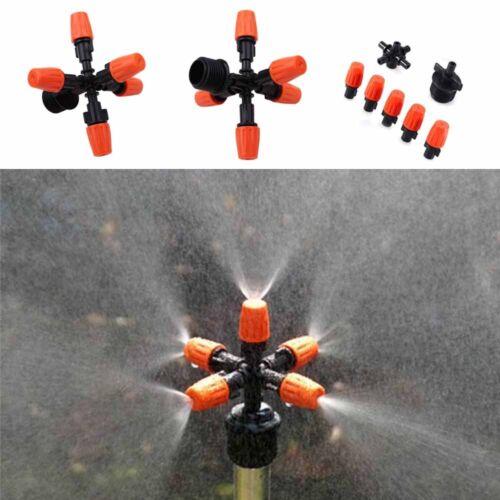 "Water Atomizing Spray 5-head Sprinkler Nozzles Irrigation 1//2 /"" Mount Adapter"