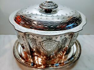Stunning-Quality-Antique-Victorian-Silver-Plate-Biscuit-Casket-circa-1890