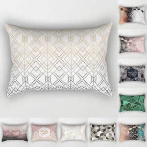 Rectangle-Pillow-Case-Geometric-Marble-Sofa-Car-Waist-Cushion-Cover-Home-Decor