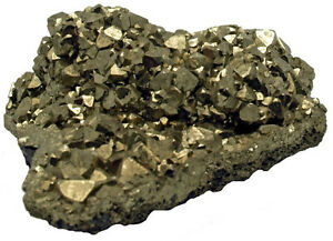 "Iron Pyrite Crystals Cluster - Fool's Gold -335 grams 3.25 x 3 x 1.5"" PYR063"