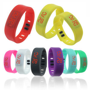 New-Colorful-Mens-Womens-Silicone-LED-Rubber-Bracelet-Touch-Digital-Wrist-Watch