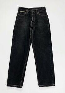 Calvin-klein-jeans-uomo-usato-gamba-dritta-W32-tg-46-denim-boyfriend-nero-T5132