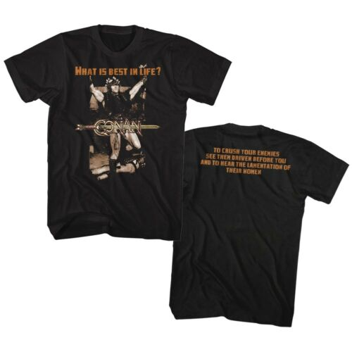 Conan The Barbarian Classic Movie What Is Best In Life Adult T Shirt