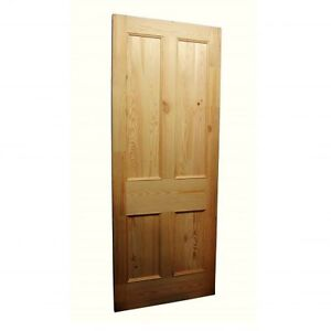 Image is loading Reclaimed-Pine-Hand-Made-4-Panel-Doors-78-  sc 1 st  eBay & Reclaimed Pine Hand Made 4 Panel Doors 78 x 27 x 1.5 Inches Warwick ...