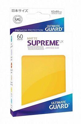 Sufficient Supply 60 Ultimate Guard Supreme Ux Sleeves Japanische Größe Matt Gelb