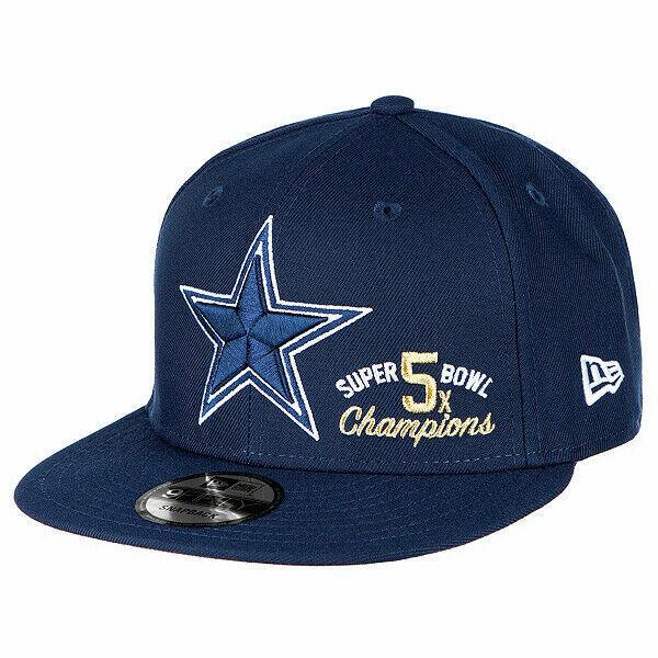 Dallas Cowboys New Era NFL 5X Super Bowl Champions Navy Snap Back Cap Adjustable