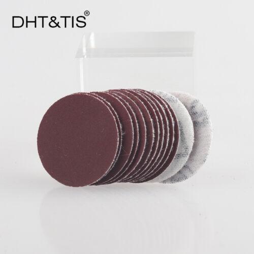 25mm 1Inch 100pieces Grit120 Mini Sand Paper Hook /& Loop Abrasive Sanding Disc