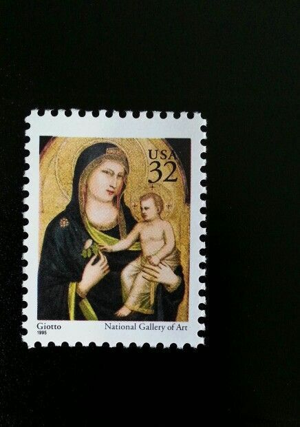 1995 32c Madonna & Child Giotto, National Gallery of Ar