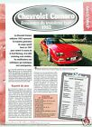 Chevrolet Camaro General Motors V8 1982 USA Car Auto Voiture FICHE FRANCE