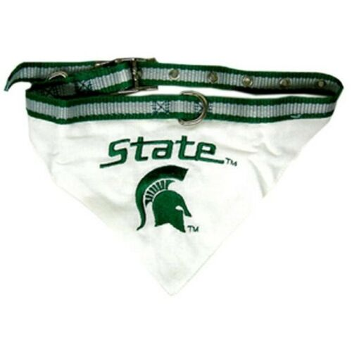 Michigan State Spartans Dog Bandanna with built-in Nylon Collar