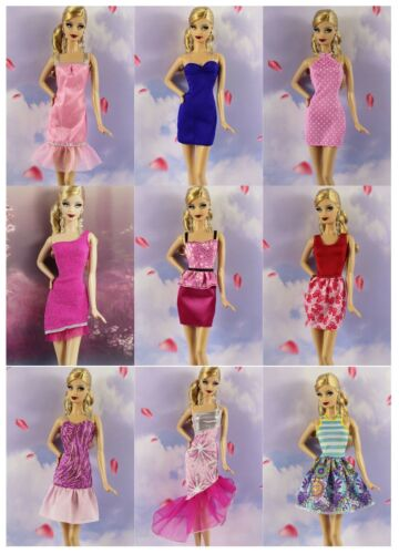 Lot 20 items= 10 Lovely Fashion Clothes//Outfit//Dress+10 shoes For 11.5in.Doll M6