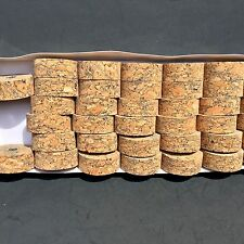 "Cork Rings 12 Full Grain Blue Burl 1 1//4/"" x 1//2/"" x 1//4/"" Hole"