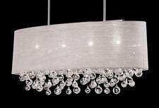"New 4 Lamp Drum Shade Crystal Chandelier Pendant Ceiling Light Lighting Dia 36"""
