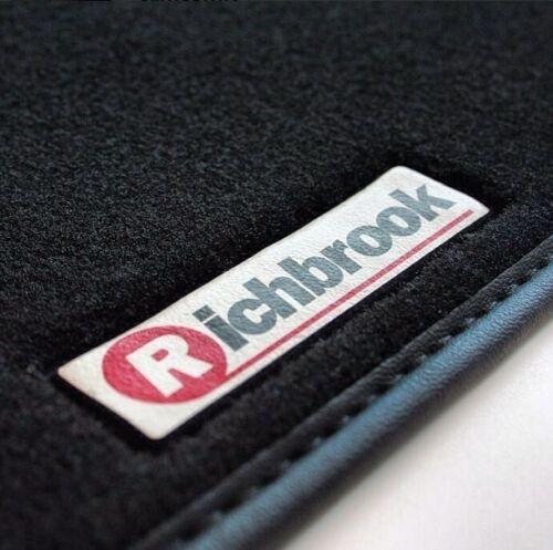 Cuero Negro Trim Richbrook alfombrillas de para Mercedes Clase E W123 76-85