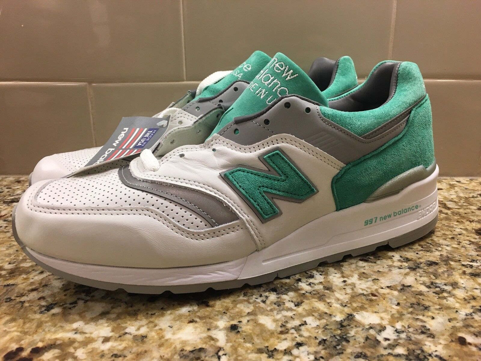 New Balance 997 M997CMA Size 13 Made In The USA White Mint Green Fieg Concepts