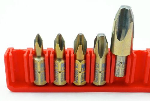 PB SWISS TOOLS C6-190 PH Precision Bits Bit Bitset Kreuz 5-tlg NEU