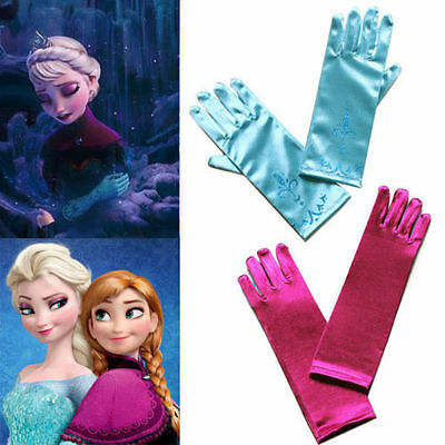 Disney Inspired Frozen Princess Elsa Anna Gloves Tiara Fancy Dress Party UK
