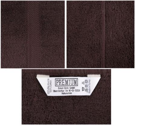 Betz 10 Stück Gästehandtücher Gästetuch PREMIUM 30x50cm dunkelbraun /& beige