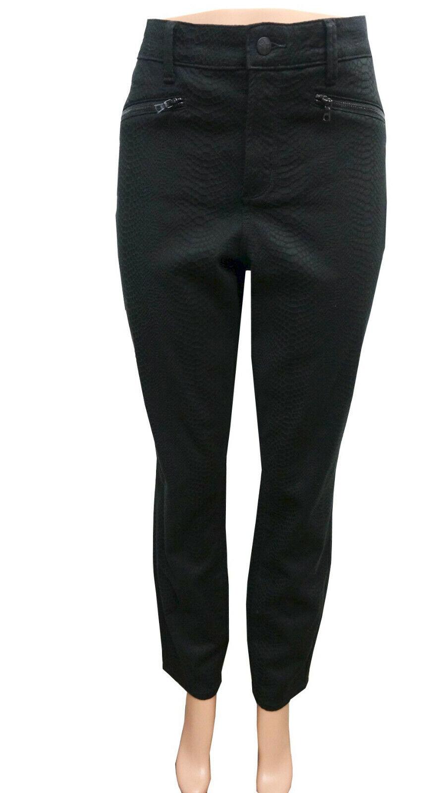 NYDJ Schwarz Schlangenmuster Ami Skinny Slimmying Passform Hosen Damen Plus