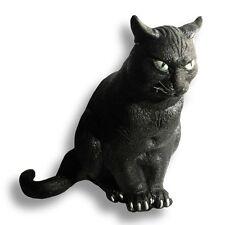 "Lifesize Black Cat Halloween Foam Rubber Haunted House Prop Decoration 12"""