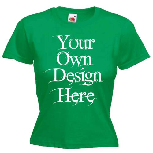 Ladies Womens Green T Shirt Personalised Text Logo Custom Design Hen Night Party