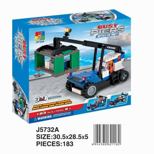 Woma utilitaires voiture Busy jetée 3 in1 Blocs de construction set 183 pièces j5732a