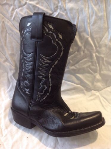 Leather Nwk Mid Calf Size 8 Boots Netwalker Black qF1AIB