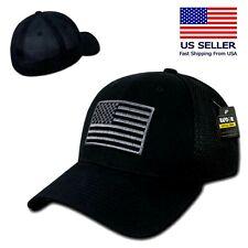 Fitted Tactical Operator Hat Flag /& Warrior Patch BLACK Condor Flex Mesh Cap