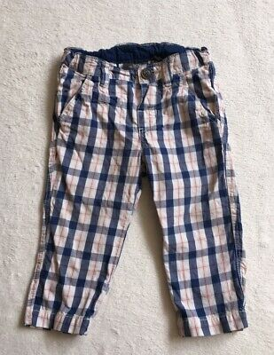 Special Section ***h&m Baby Boy Blue Checked Cotton Chino Trousers 6-9 Months Excellent!*** Trousers & Shorts