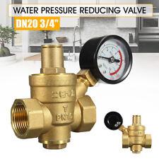 Dn20 34 Brass Water Pressure Regulator Adjustable Brass Reducer Gauge Meter