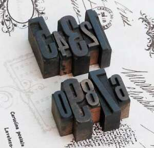 0-9-Zahlen-Mix-Holzlettern-Lettern-Holzzahlen-Zahl-Vintage-Stempel-wood-type-alt